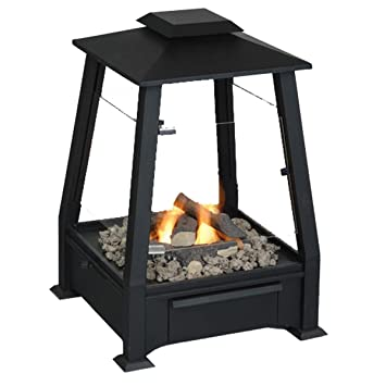 Real Flame Sierra Outdoor Gel Fuel Fireplace Black Amazon Ca