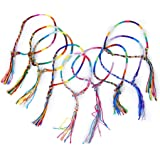 9pcs Bracelets Brésiliens Bracelets de Cheville Bracelet Hippie Fil Tressé Coloré Fait à la Main # 1 (Couleur Aléatoire)