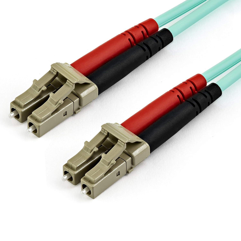StarTech.com Câble Fibre Optique Duplex multimode LC vers LC de 15 m - OM4 - Câbles de Fibre Optique (15 m, LSZH, OM4, LC, LC, Eau)