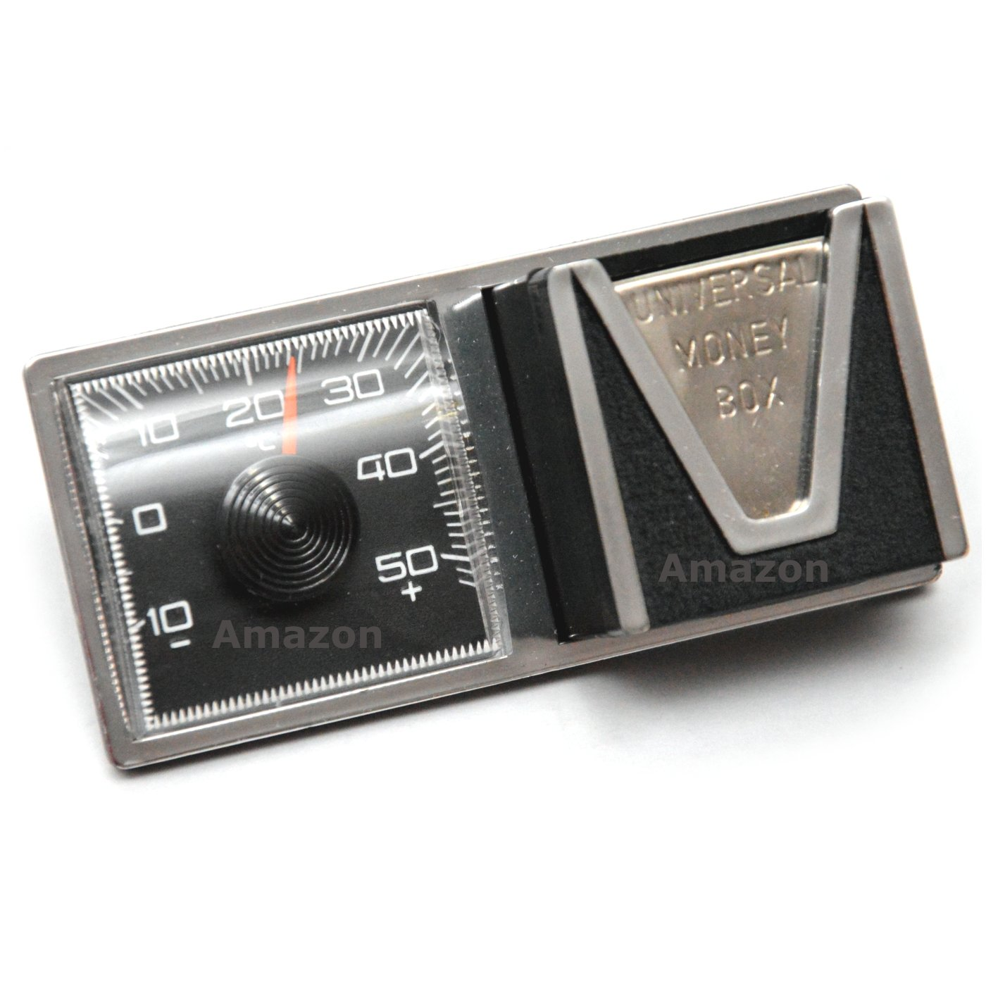 Historisches KFZ Thermometer Mü nzbox Kombi Instrument ca. 1969 RICHTER HR117