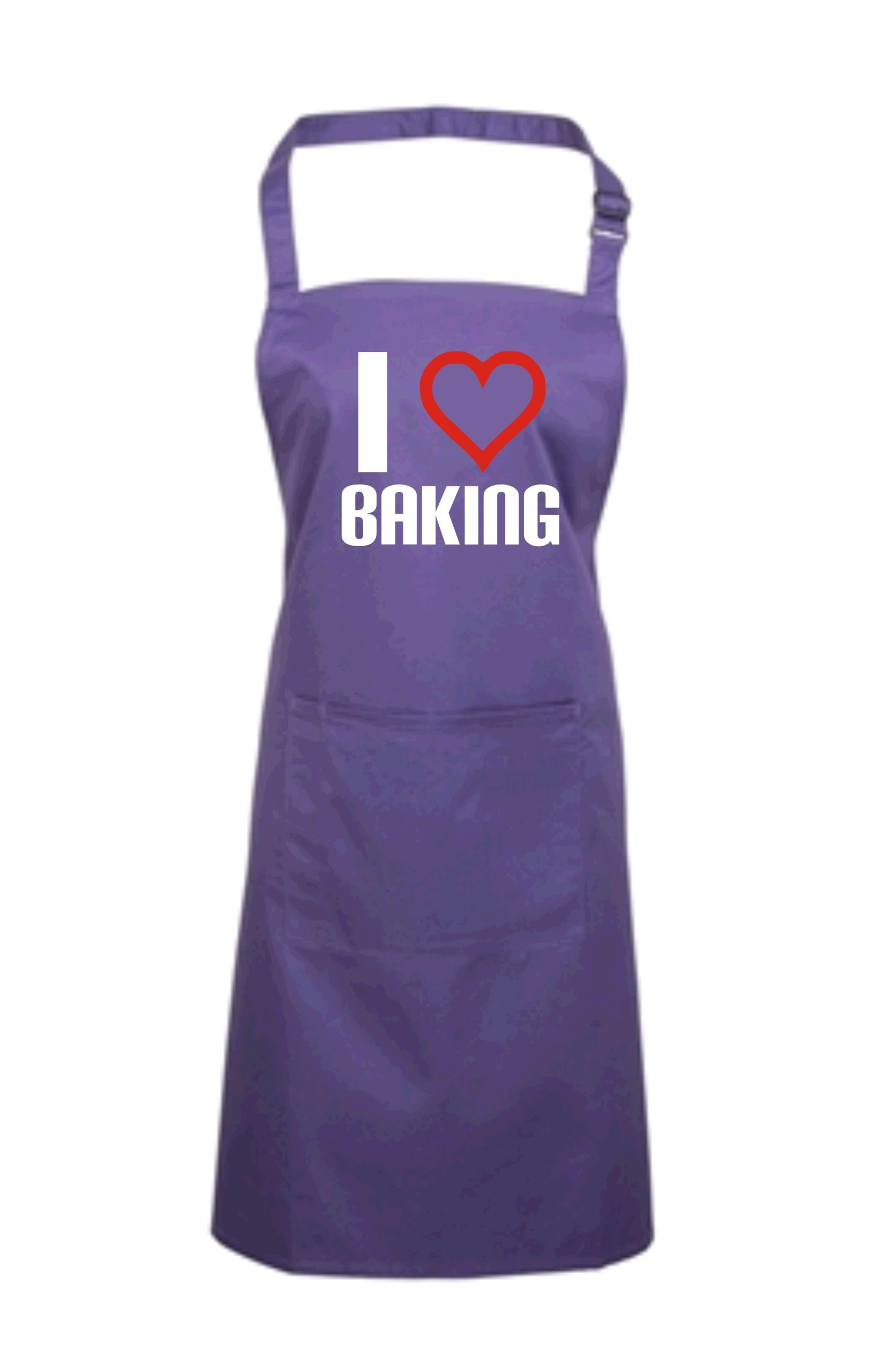 Edward Sinclair Women's I Love Baking Apron One Size Purple