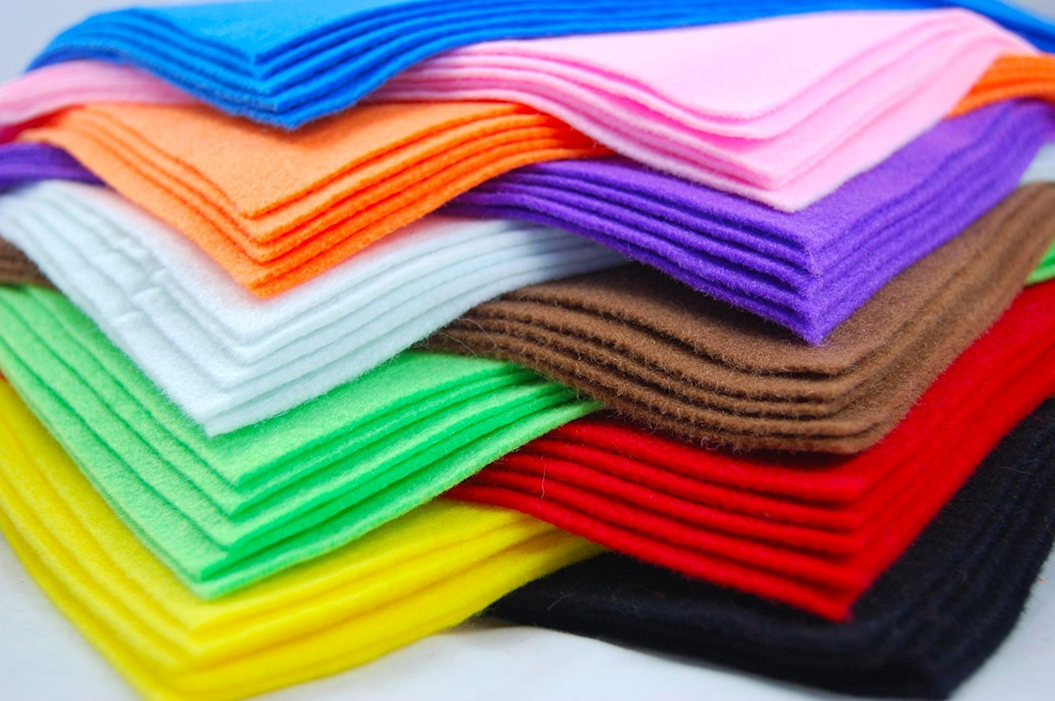 10 Felt Fabric Sheets, Various Colours, A4 size Anycraft-UK