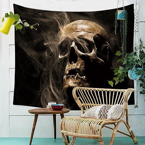 Halloween Cráneo Tapiz de Pared,Morbuy Creativo Decoración Tapices Creativo Impreso Tapicería Cubierta del Sofa Manteles Cortina Picnic Blanket Playa ...