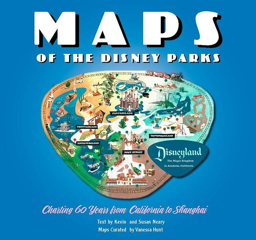 Maps Of The Disney Parks Charting 60 Years From California To