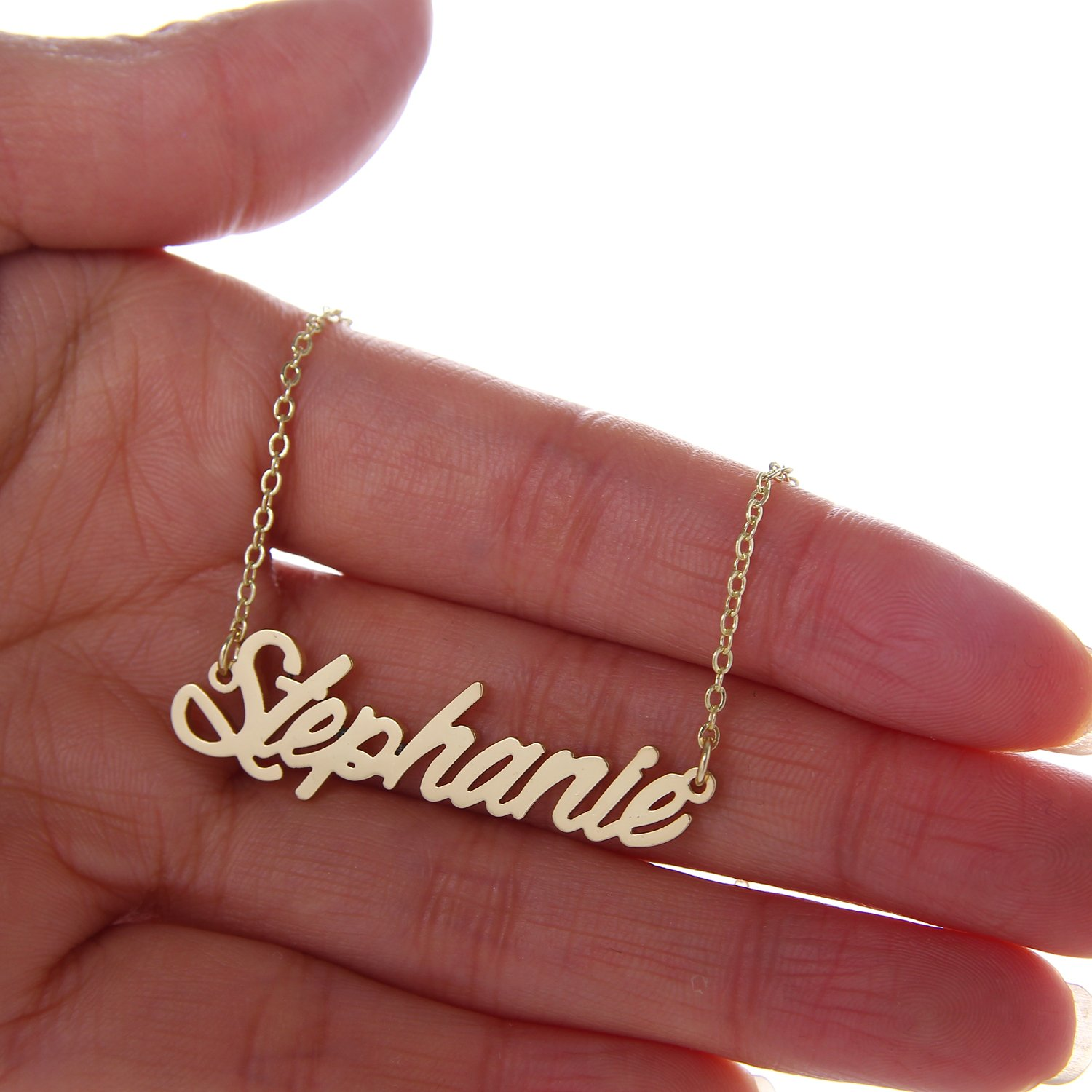 Amazoncom AOLO Unique Personalized Name Necklace Vintage Jewellery