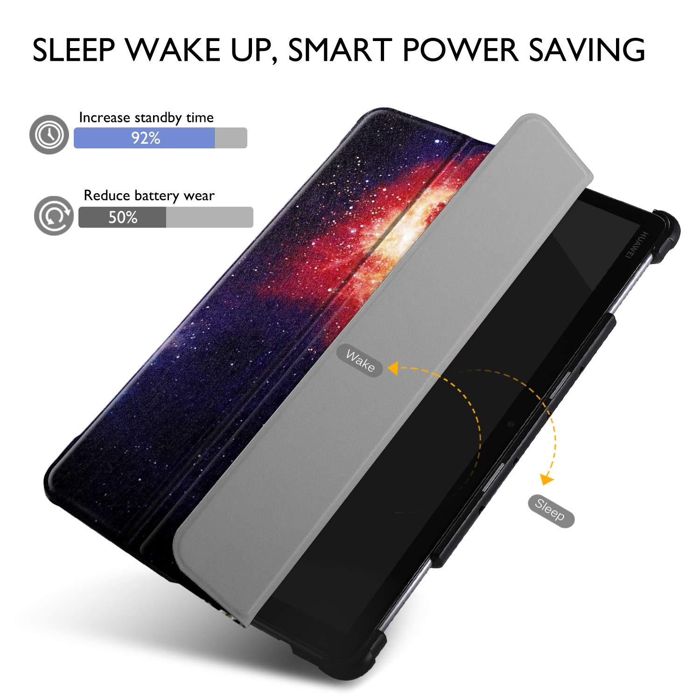 "IVSO Custodia Cover per Huawei Mediapad M5 Lite 10 Ink Constellation Slim Smart Protettiva Custodia Cover in Pelle PU per Huawei Mediapad M5 Lite 10.1/""2018"