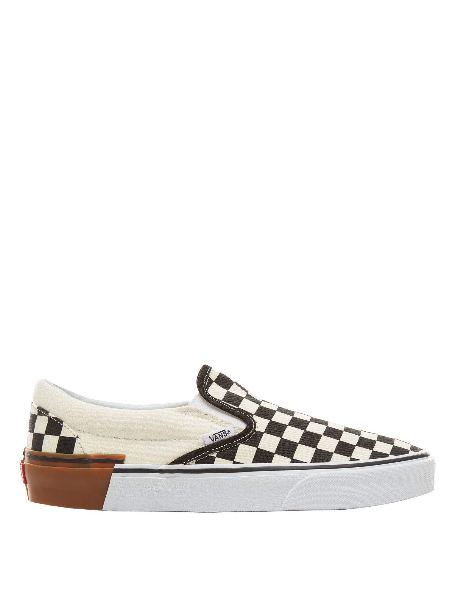 86af4942 Vans Classic Slip On Gum Block Checkerboard Men's Classic Skate Shoes Size  9.5