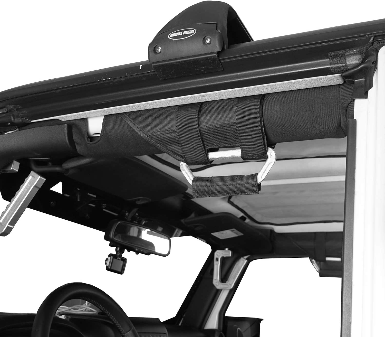 Hooke Road Aluminum Grab Handles Compatible with Jeep Wrangler JK JL Gladiator JT 07-21 Pair