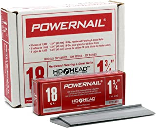 "product image for Powernail 18ga 1-3/4"" HD L Cleat Flooring Nail (1 Case of 5-1000ct Boxes)"