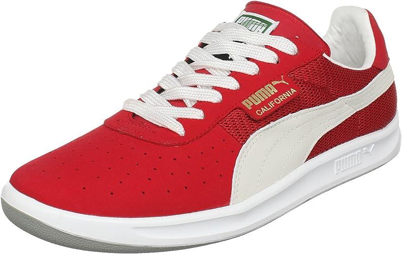 Elemental dos semanas Inmunizar  PUMA - California 2 Mens Sneakers, Size: 13 UK, Color: Team Regal  Red/White: Amazon.co.uk: Shoes & Bags