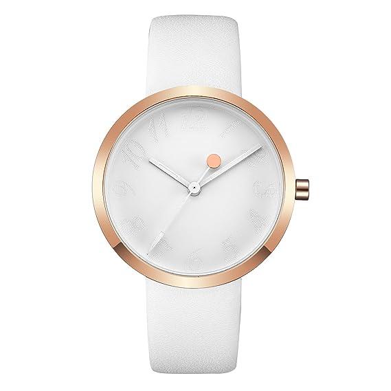 Reloj para Mujer, Ultra Fino Oro Rosa Analógico Reloj de Pulsera
