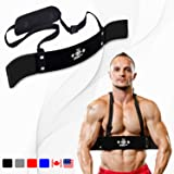 DMoose Fitness Arm Curl Blaster for Bicep Body Building and Muscle Strength Gains, Contoured and Adjustable Isolate for…