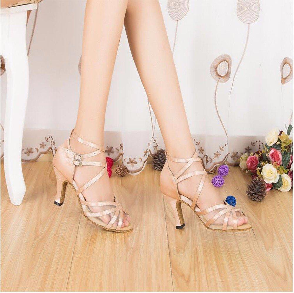 C 6cm fond poilue Masocking@ Femme Chaussures de Danse Sandales Volet Internet Cross Strap High-Heel Disciples Soft US6 EU36 UK4 CN36