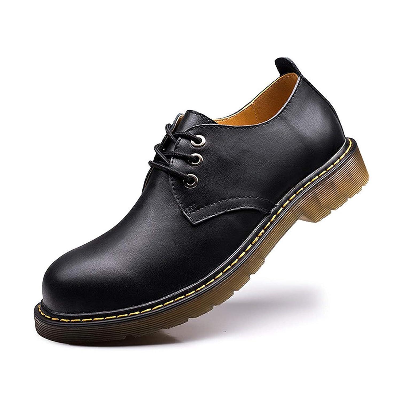 金属履歴書予約[Placck] ビジネスシューズ メンズ ブーツ 革靴 防水 防滑 紳士靴 ウィングチップ カジュアルシューズ オックスフォードシューズ 黒 ブラック