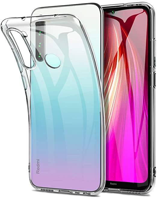 Yocktec Funda para Xiaomi Redmi Note 8, Funda Carcasa de Gel Ultrafina y Suave de TPU para Xiaomi Redmi Note 8 (Transparente)