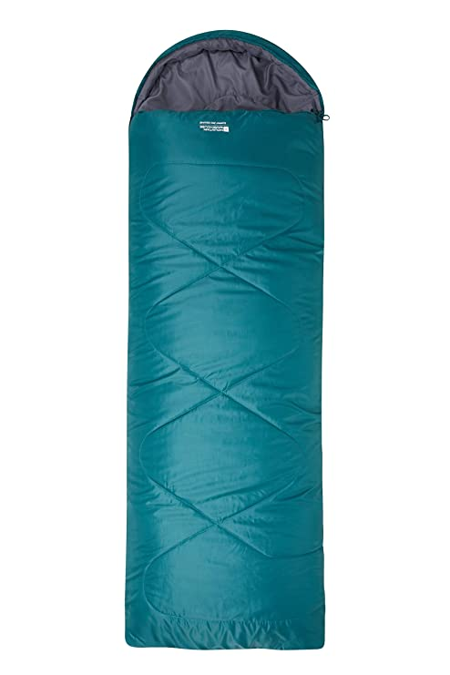 premium selection f1a1e 7eda8 Mountain Warehouse Summit 250 Square Sleeping Bag - 2 Way Closure - For  Backpacking, Festivals