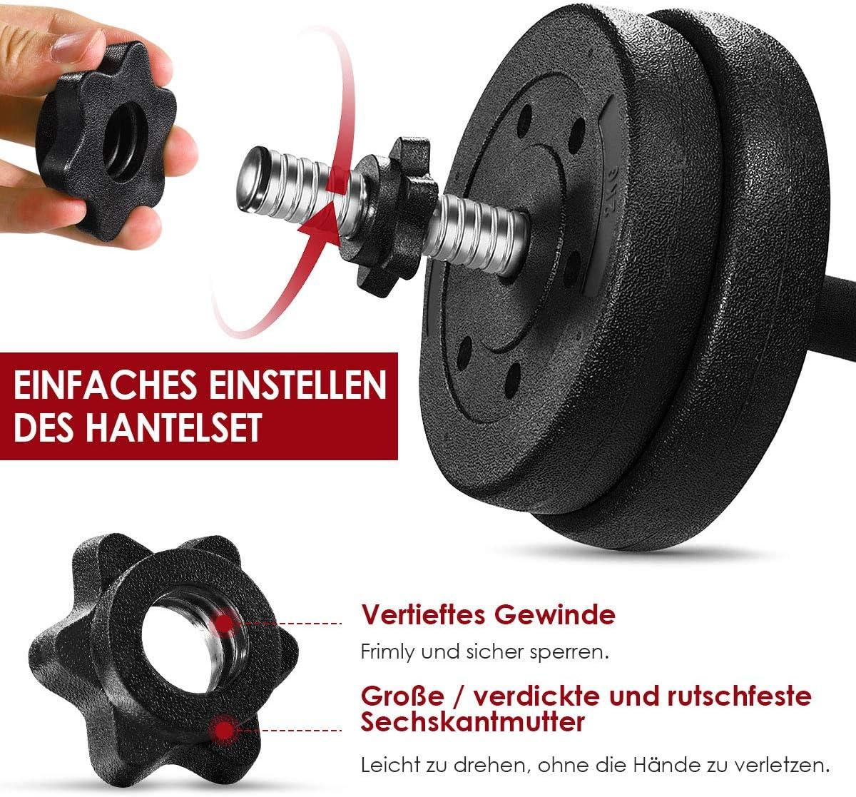 Hantel Kurzhantel Set Krafttraining Gewichte Hantelset Kurzhanteln 30 KG