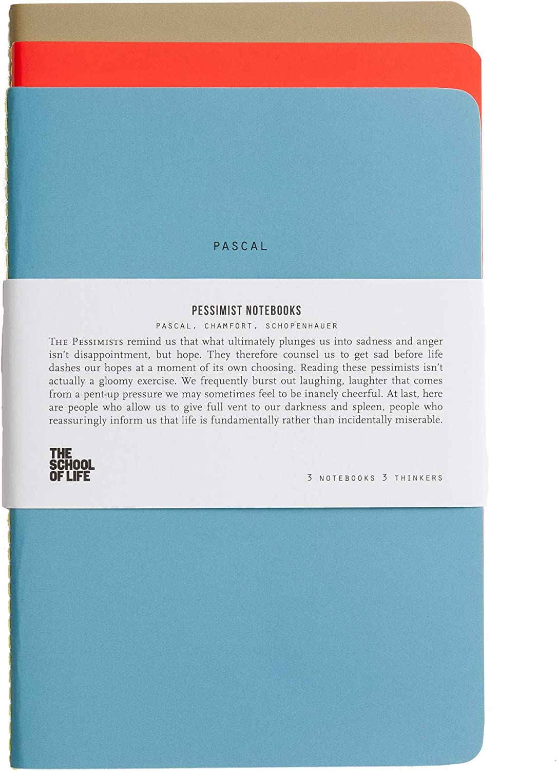 The School of Life School of Thought Notebooks: The Bauhaus 3 Thinkers 3 Notebooks