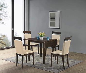 Amazon Com Gtu Furniture 5pc Mini Foldable Dining Room Set