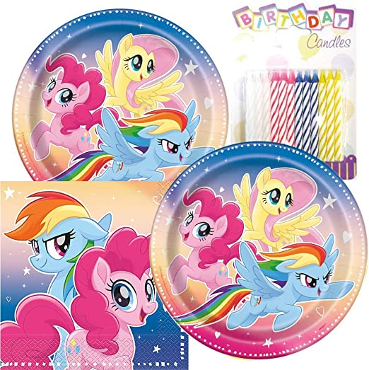Amazon.com: My Little Pony - Platos y servilletas de fiesta ...