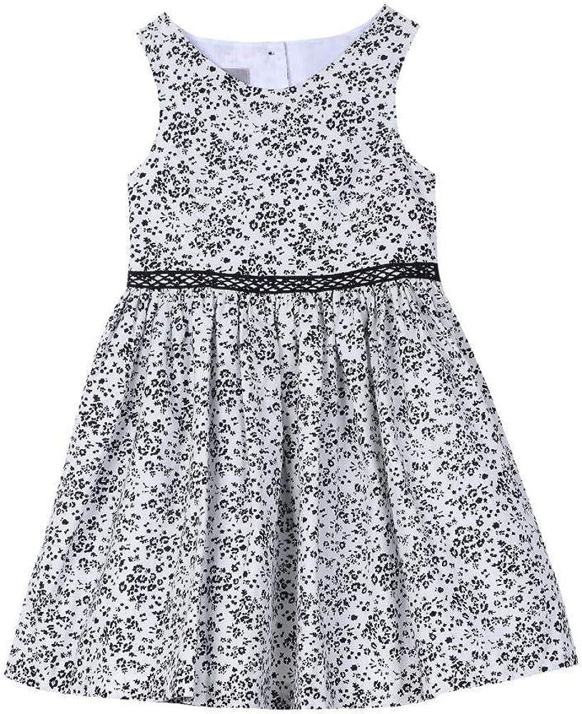 Pastourelle Baby-Girls Sleeveless Party Dress Waist Trim