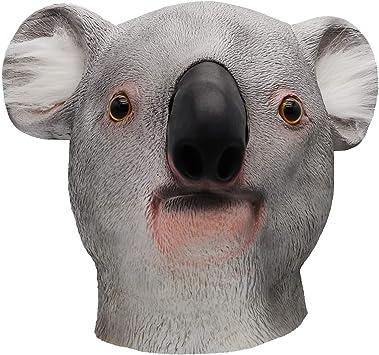 ifkoo Koala Máscara de lujo novedad Halloween disfraz fiesta látex ...