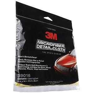 3M Microfiber Detail Cloth Clip Strip 39016, Yellow, 1/pk