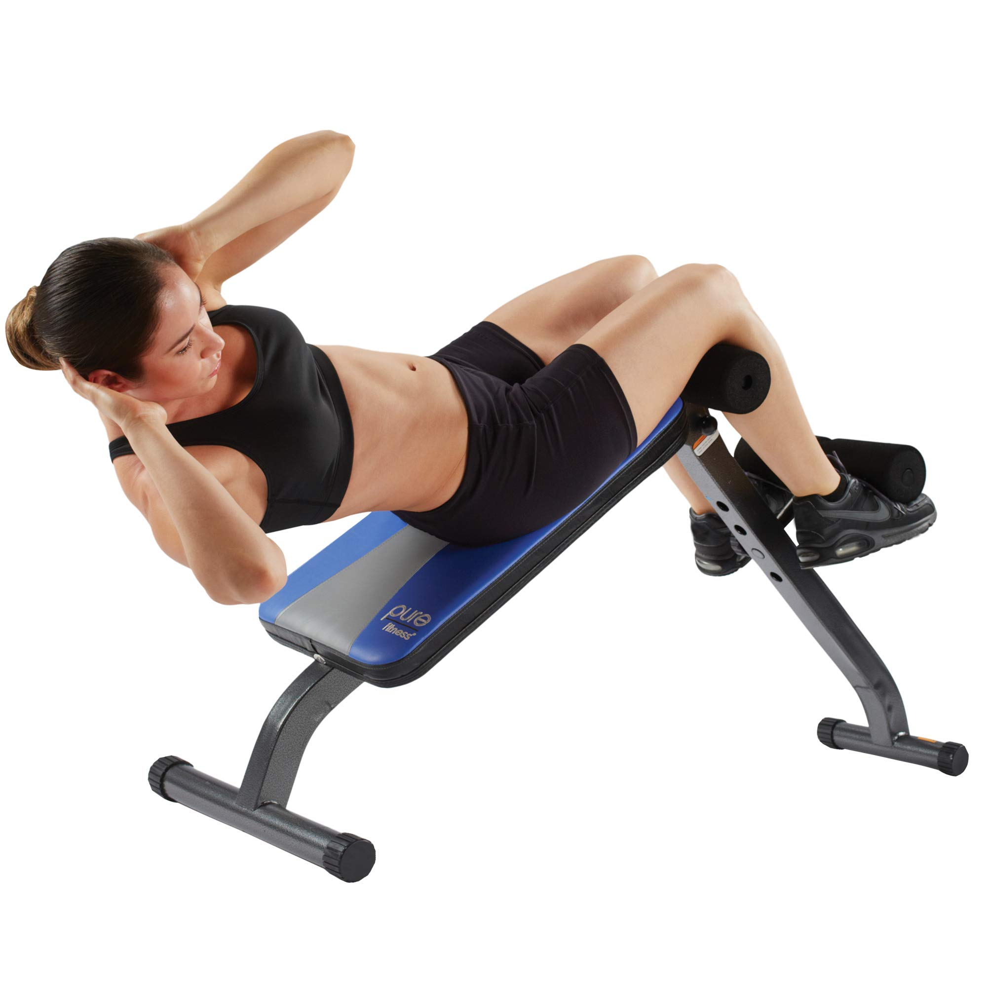 Adjustable Ab Crunch Sit-Up Bench for toning and training