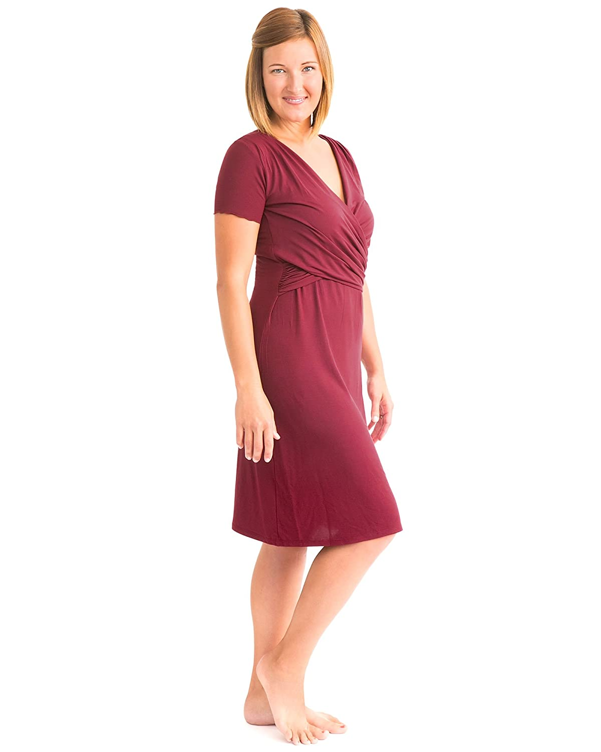 Kindred Bravely Angelina Ultra Soft Maternity & Nursing Nightgown ...