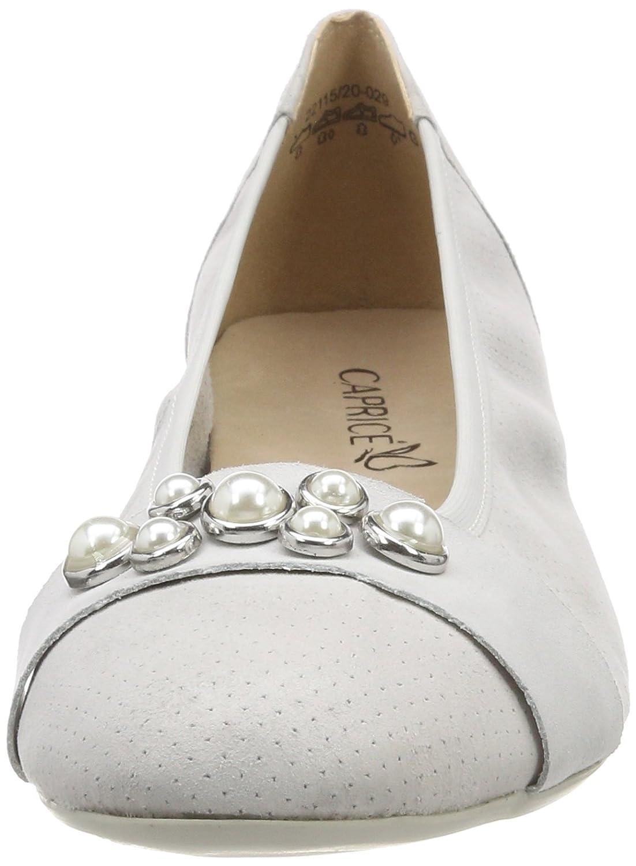 CAPRICE Damen 22115 Geschlossene Ballerinas Grau (Lt Grau Pe Com 214) 214) Com d7c655
