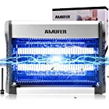AMUFER Electric Bug Zapper 20W Mosquito Lamp Indoor Insect Killer, Mosquito, Moth, Wasp, Fly Killer for Indoor Plug in…