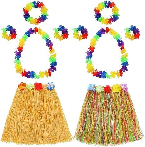 Hugh Francis - Juego de 2 Juegos de Disfraz Hawaiano de Hula para ...