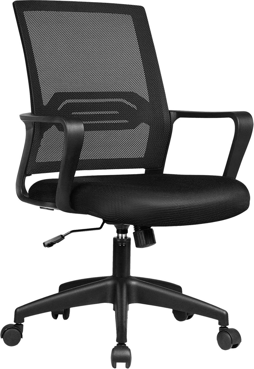 ComHoma Office Chair Ergonomic Desk Chair Mesh Computer Chair Mid Back Mesh Home Office Swivel Chair, Modern Executive Chair with Armrests Lumbar Support(Black),