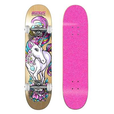 SkateXS Beginner Unicorn Girls Skateboard : Sports & Outdoors