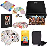 Zink Polaroid WiFi Wireless 3x4 Portable Mobile Photo Printer (Black) with LCD Touch Screen, Compatible w/iOS & Android