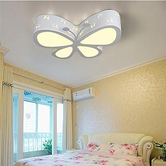 BRIGHTLLT Schmetterling Kinderzimmer lampe led Deckenleuchte cartoon Licht  Jungen und Mädchen Schlafzimmer Licht Lampen Kinderzimmer Fernbedienung, ...