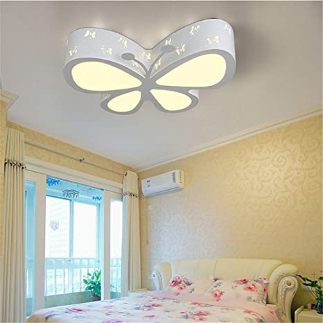 BRIGHTLLT Habitación niños mariposa LED Luz Lámpara de techo ...