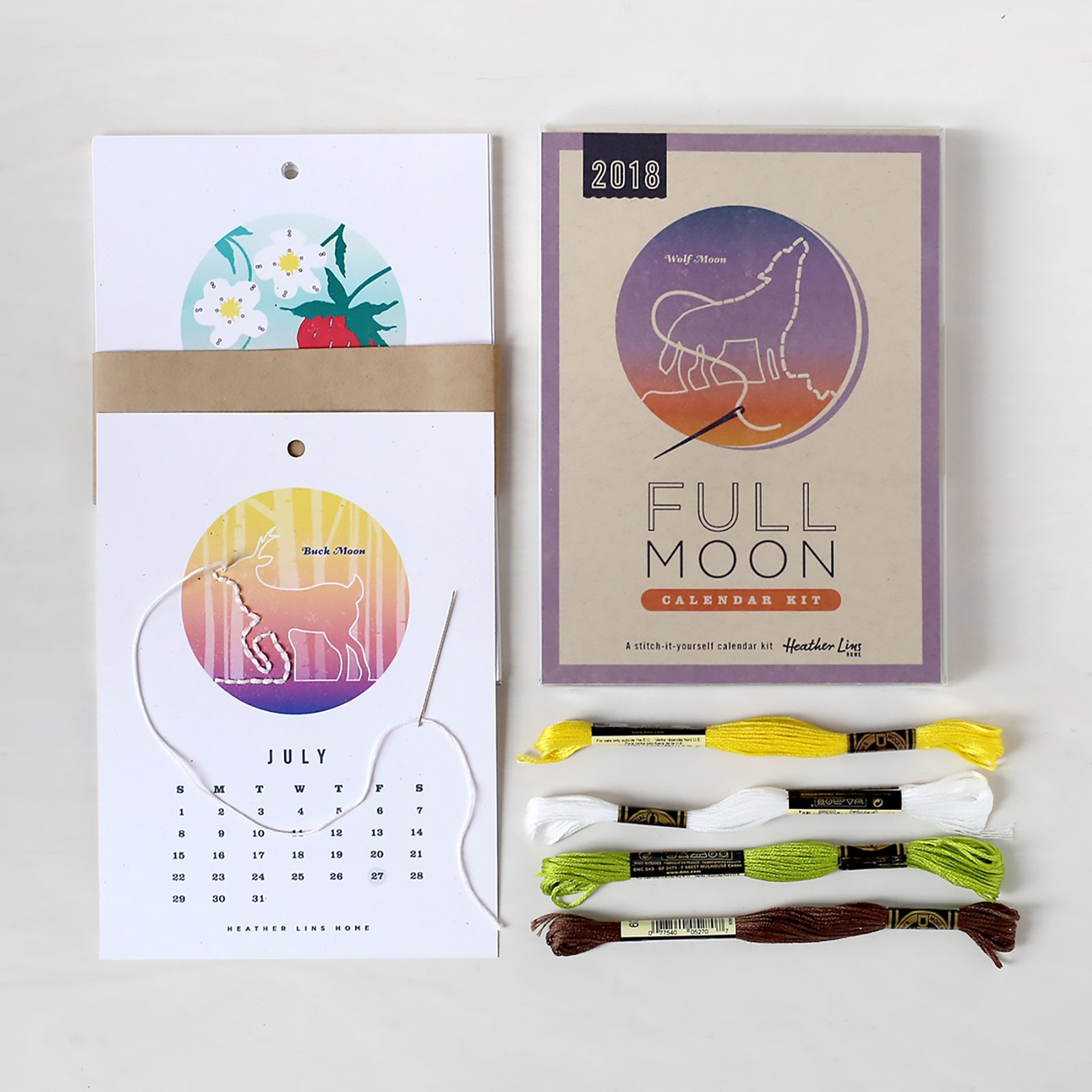2018 Full Moon Calendar Kit - DIY Kit - Part of Martha Stewart American Made Market