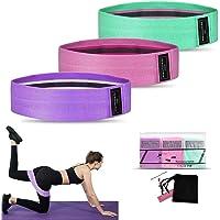 Weerstandsbanden [set van 3], Weerstand heupbanden set met 3 weerstandsniveaus voor heupen en bilspieren, Workout Booty…