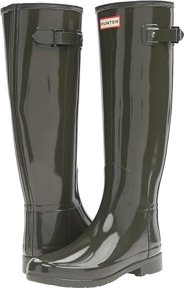 73a0285eed09 Hunter Women s Original Refined Gloss Dark Olive Boot