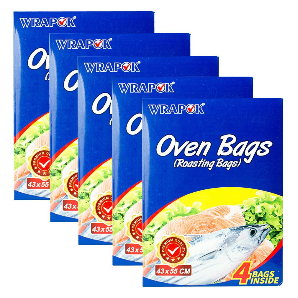 WRAPOK Oven Cooking Turkey Bags Large Size Ribs