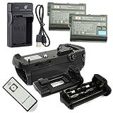 DSTE IR Remote MB-D12H Batteriegriff + 2x EN-EL15 Batterie + USB Ladegerät für Nikon D800 D800E D810 D810A