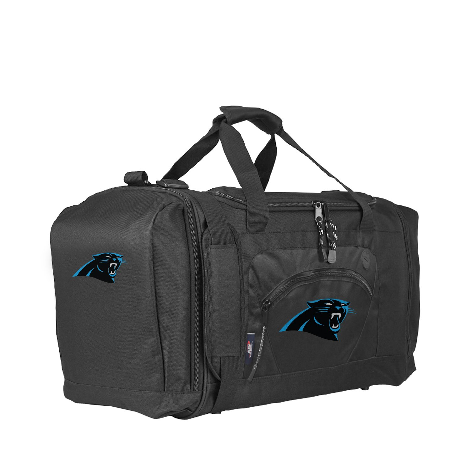 The Northwest Company Officially Licensed NFL Carolina Panthers Unisex Roadblock Duffel Bag, Black