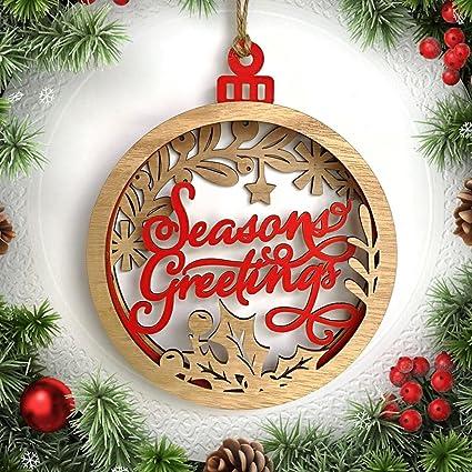 feileng large wooden 3d merry christmas letter pendants christmas ball christmas hanging decor christmas decoration - Large Wooden Christmas Decorations
