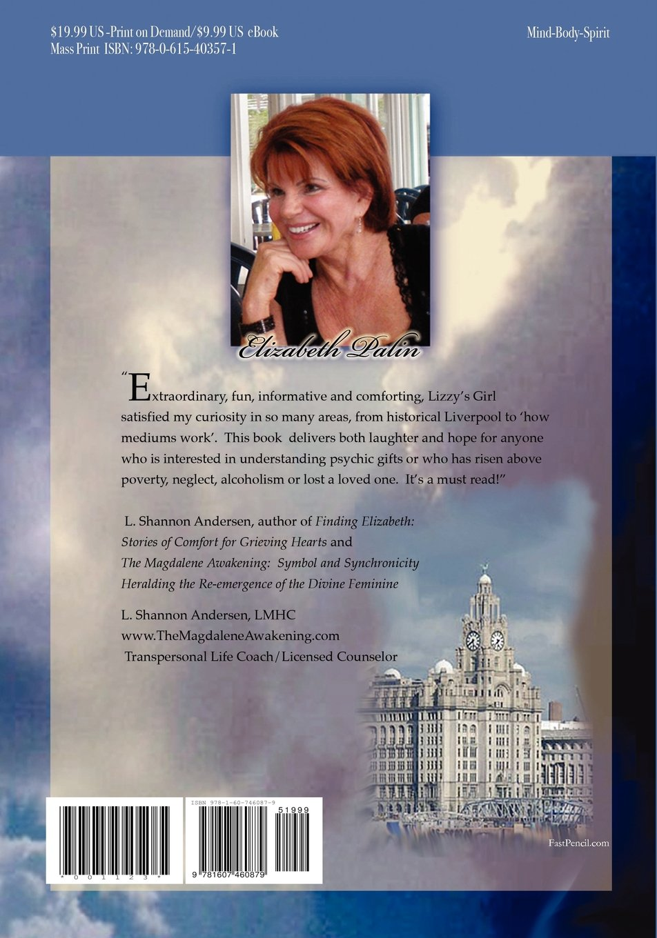 Lizzys girl the journey of a psychic medium elizabeth palin lizzys girl the journey of a psychic medium elizabeth palin 9781607460879 amazon books biocorpaavc Image collections
