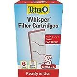Tetra Whisper Replacement Aquarium Filter Cartridges, Small, 6 Count