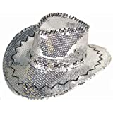 Sparkling Silver Sequins Men or Womens Western Style Cowboy Cowgirl Hat a817a3ff8761