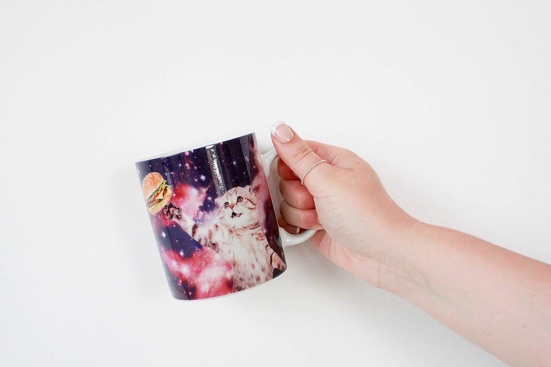 Multicolor 9.5 x 11 x 8cm Gift Republic GR450008 Space Cat Mug