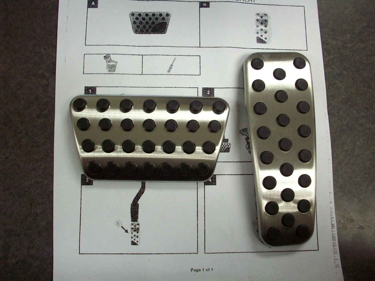 Dodge Charger Chrysler 300 Challenger stainless pedal pad kit Mopar