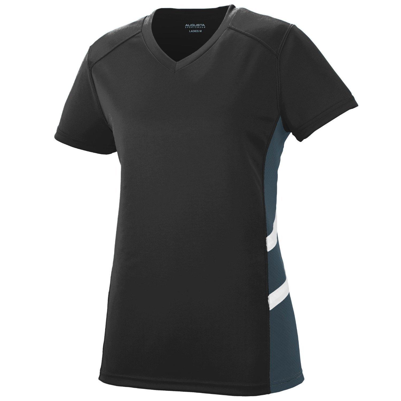 Augusta SportswearレディースOblique Jersey B010KBD0MS X-Large Black/Slate/White Black/Slate/White X-Large